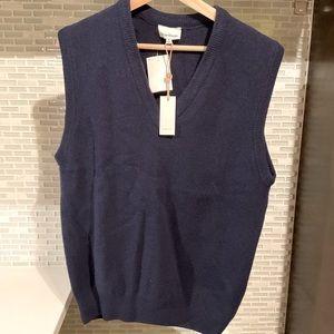 NWT Heartloom Blue Sleeveless Wool Sweater Vest